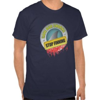 Save Our Sharks Stop Finning Shirts #sharkweek