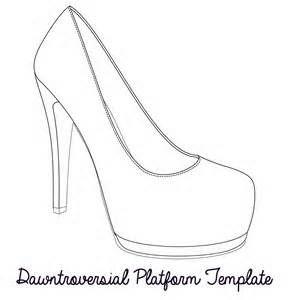 High Heel Paper Shoe Template Bing Images Paper Shoes Shoe Template Shoe Pattern