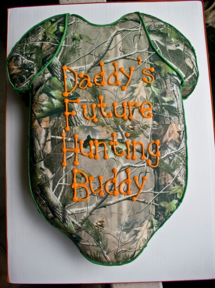 Hunting Themed Onsie Baby Shower Cake Baby Shower Camo