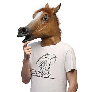 ThinkGeek :: The Horse Head Mask