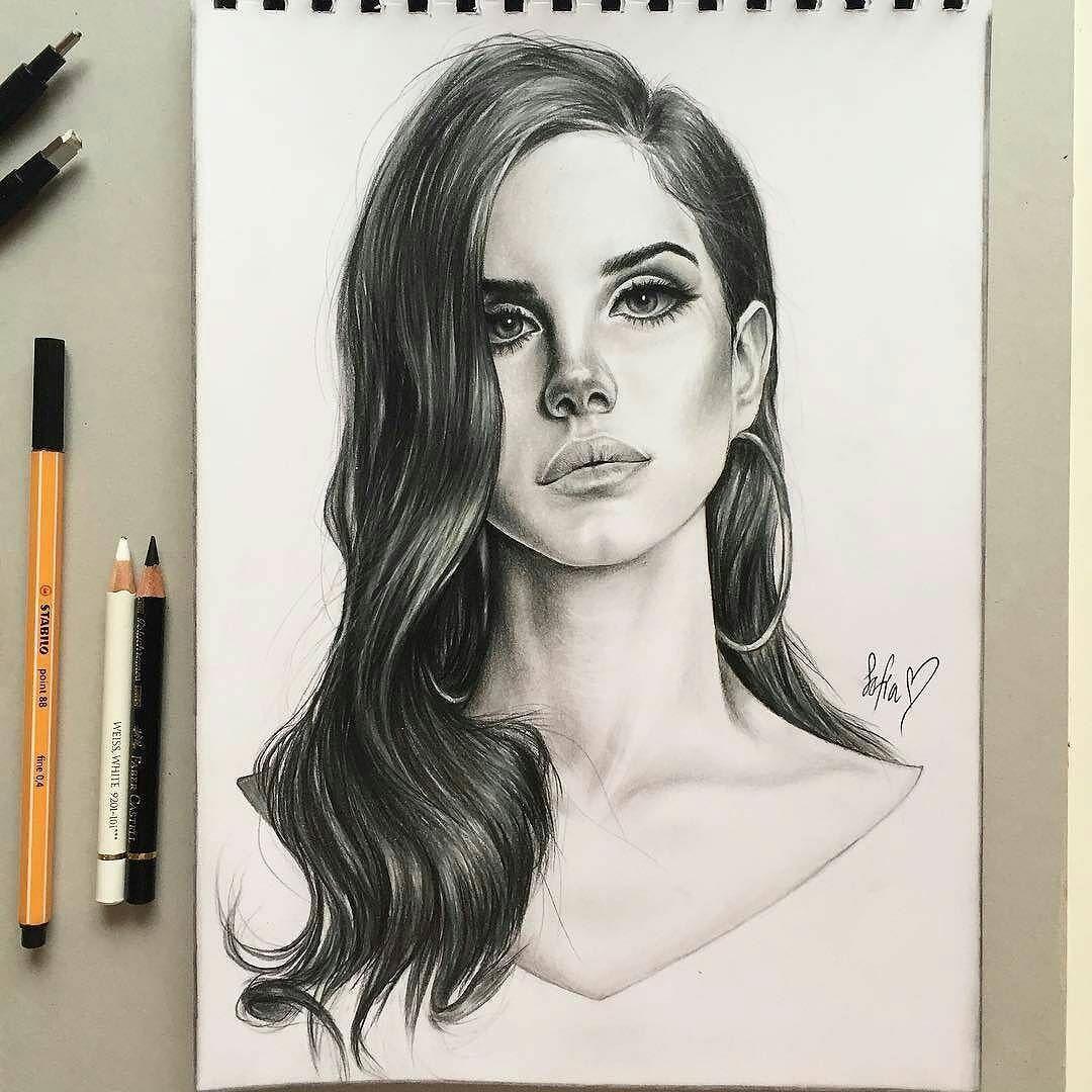 Lana Del Rey Art Fan Made Art Lana Del Rey Art Fan Art Drawing Sumi E Painting