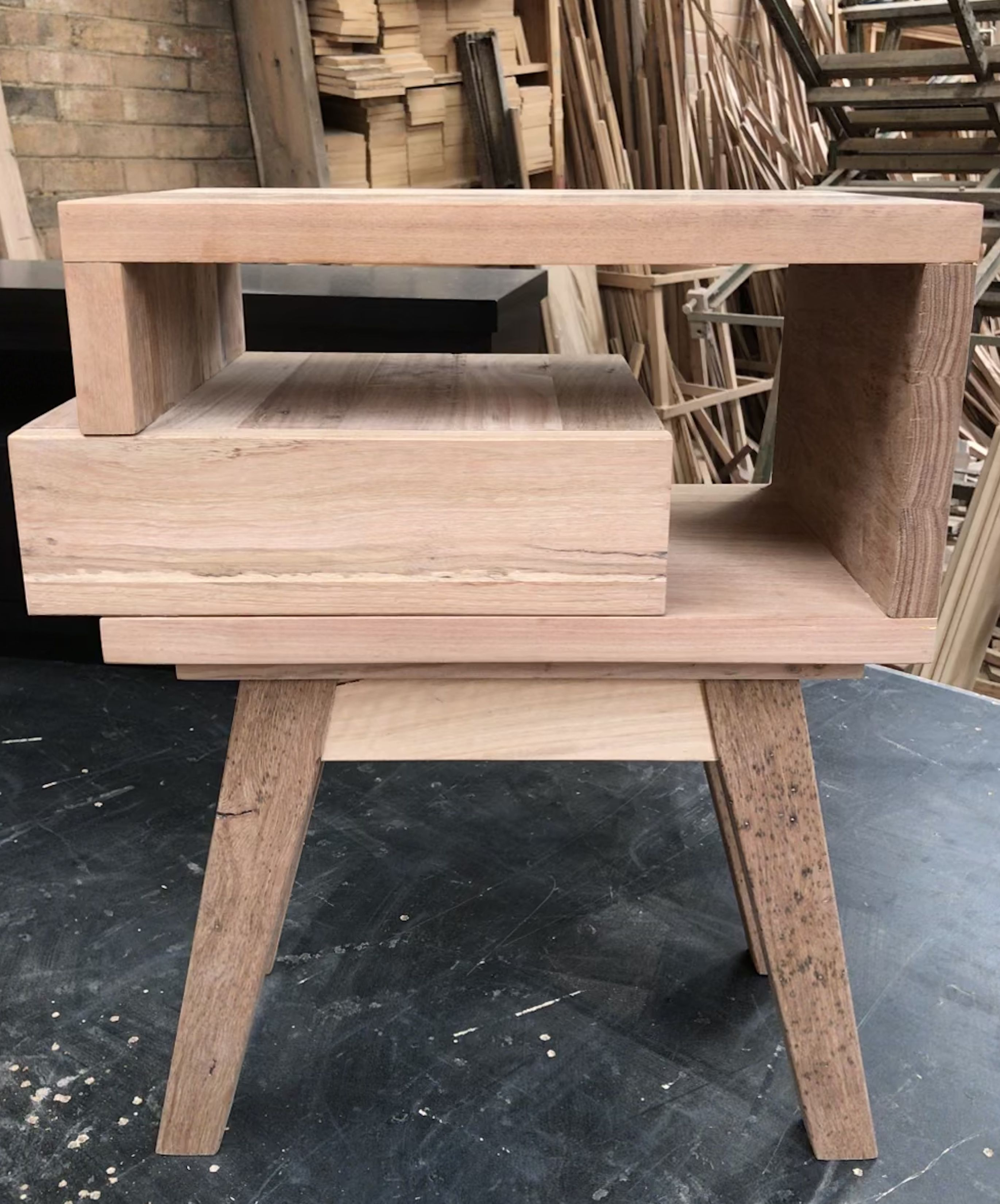 Bedside table by Jun Furniture, Step stool, Decor