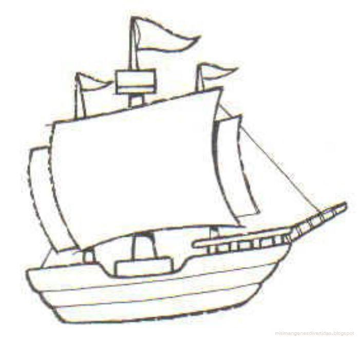 1 Cristobal Colon 18 Dibujos Para Colorear Dibujo De Barco Cristobal Colon
