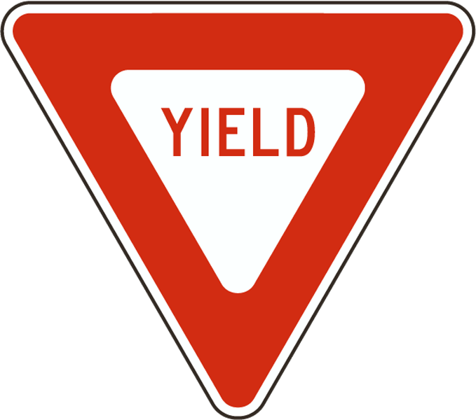 Yield Sign X4540 Yield Sign Traffic Signs And Symbols Traffic Signs