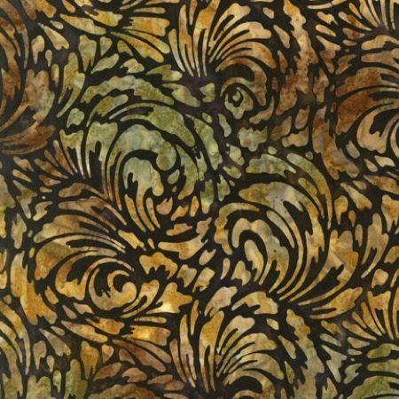R Kauf Artisan Batiks Texture Acanthus Nutmeg