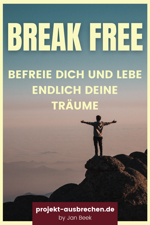 ... und endlich seine Träume leben. In meinem Blog Artikel erfährst du, wie auch du es schaffen kannst, dass Leben deiner Träume zu leben. Dir gefällt meine Arbeit? Unterstütze mich, in dem du diesen Pin auf deiner Pinnwand speicherst, Dankeschöm :) #aussteigen #freiheit #rausausdemsystem #projektausbrechen #breakfree