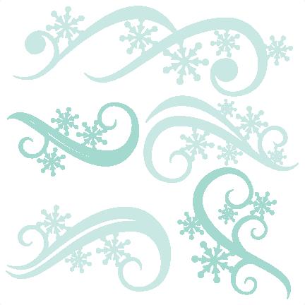 Winter Flourishes SVG scrapbook title winter svg cut file snowflake svg cut files for cricut cute svgs free Af