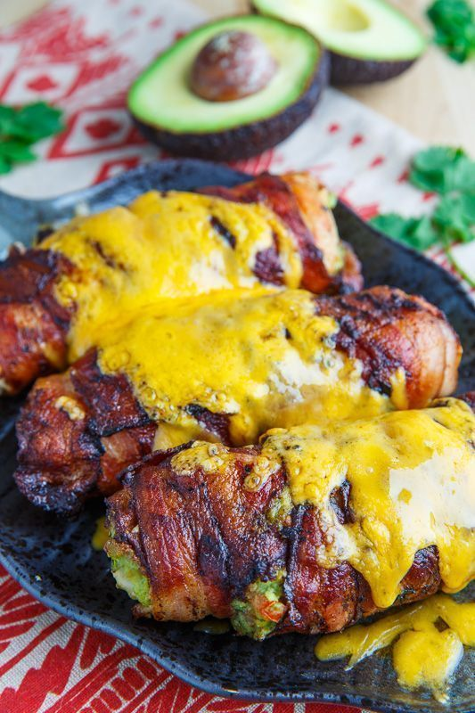 #Recipe : Bacon Wrapped Guacamole Stuffed Chicken - My Favorite Things