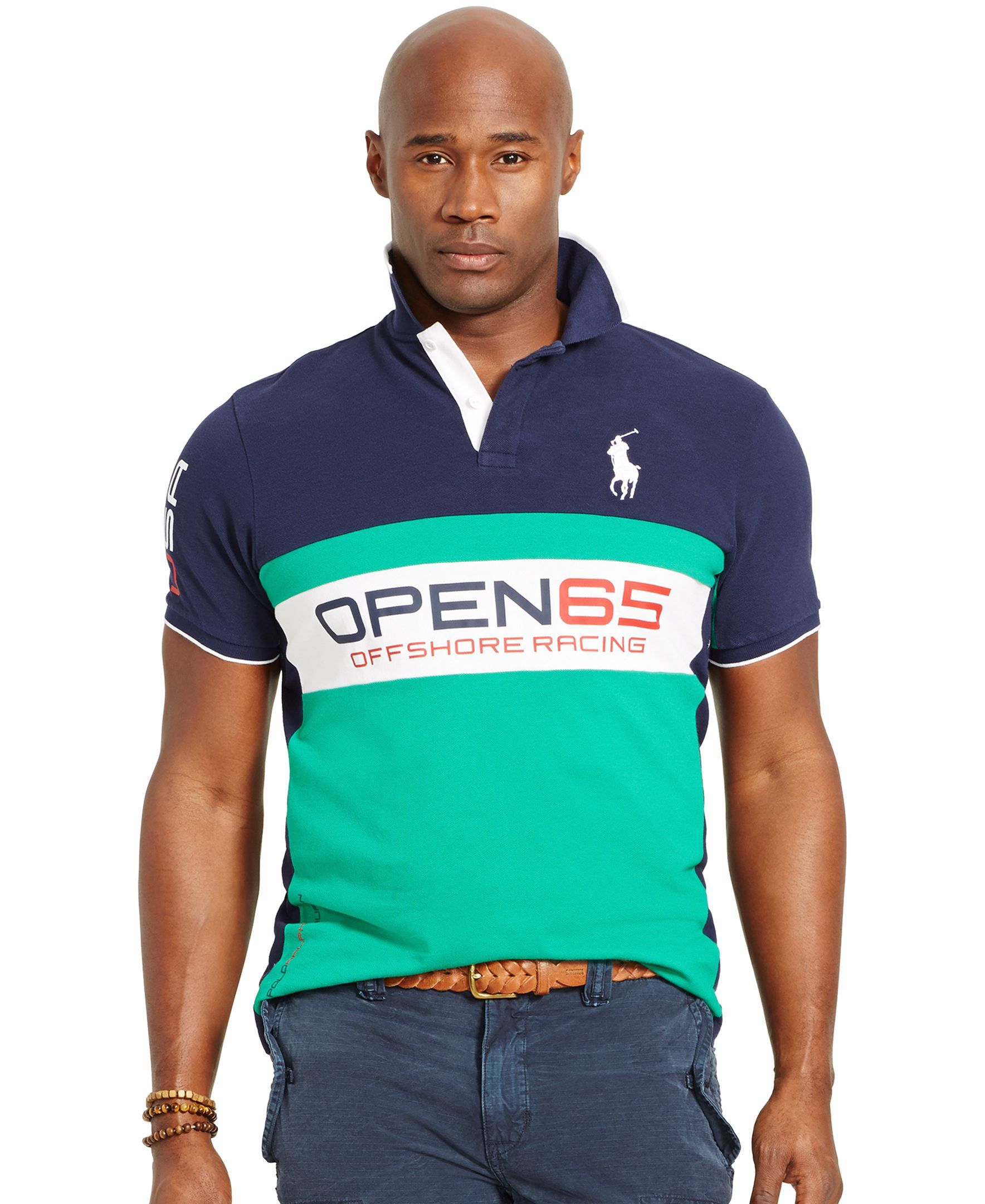 Polo Ralph Lauren Big and Tall Classic-Fit Pieced Mesh Polo Shirt - Polos -  Men - Macy's