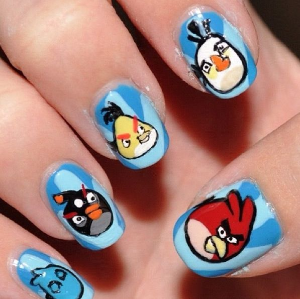 Angry bird nails | Nails | Pinterest | Angry birds