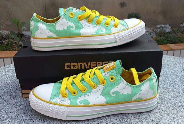 5299c37c54d6 Converse Flying Elephant Minty-Fresh Hue Green Chucks All Star Low Womens  Shoes