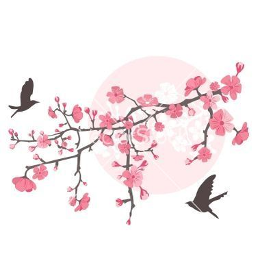 CHERRY TREE VECTOR - Google Search | Wall art | Pinterest ...