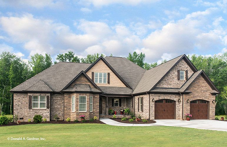 The spotswood house plan 2578 sq ft love the kitchen for French country ranch home designs
