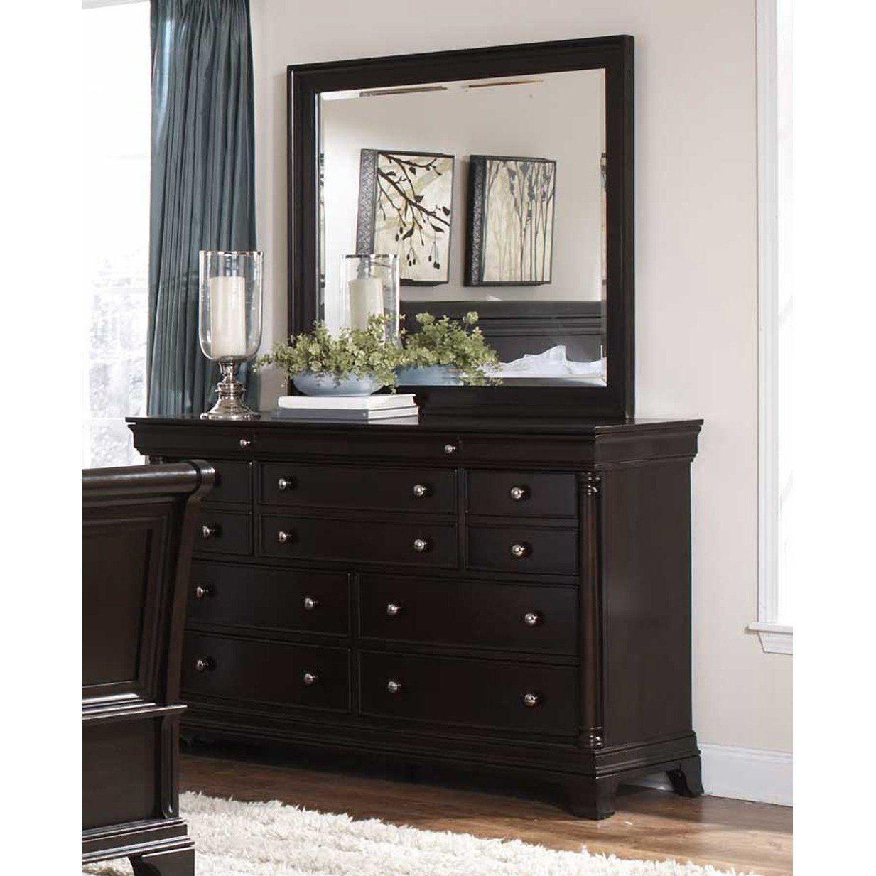 Inglewook Wood Dresser Rectangular Mirror Espresso Decoracion De Unas [ 1233 x 1233 Pixel ]