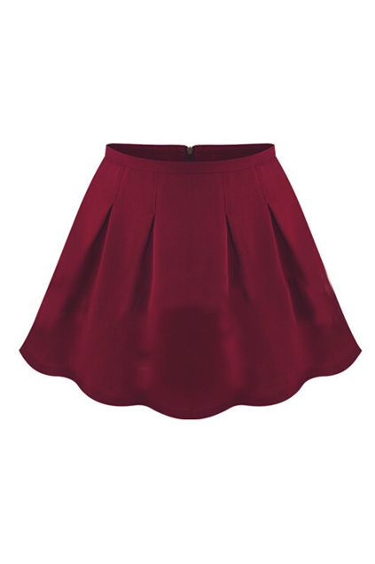ROMWE | High Waist Red Pleated Skirt, The Latest Street Fashion