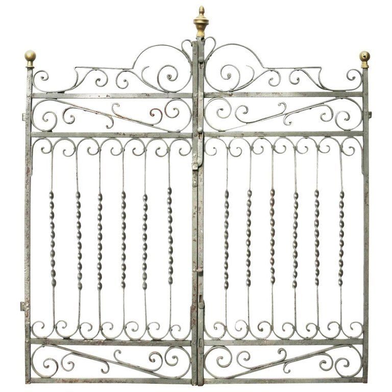 19th Century French Wrought Iron Gates With Images Wrought