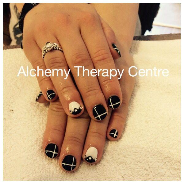 Black And White Nail Art Design Nails Nailart Www Alchemytherapycentre Com Black And White Nail Art Nails White Nail Art