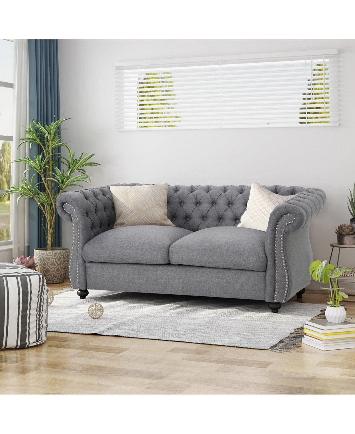 Noble House Somerville Loveseat Reviews Furniture Macy S In 2020 Love Seat Noble House Loveseat Sofa