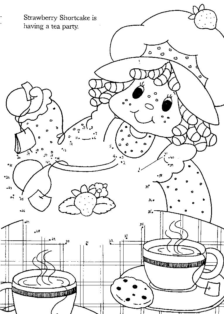 Vintage strawberry shortcake coloring pages - Coloring Pages ...