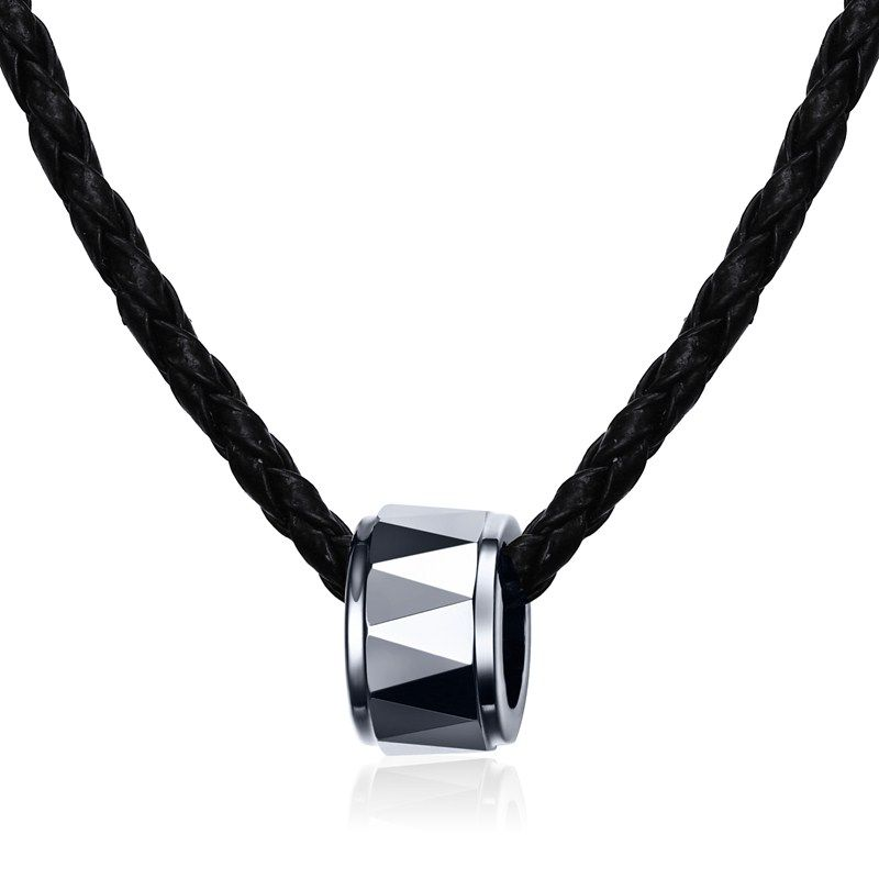 men link black stainless tungsten carbide titanium s chain wheat and necklaces pendant chains steel necklace