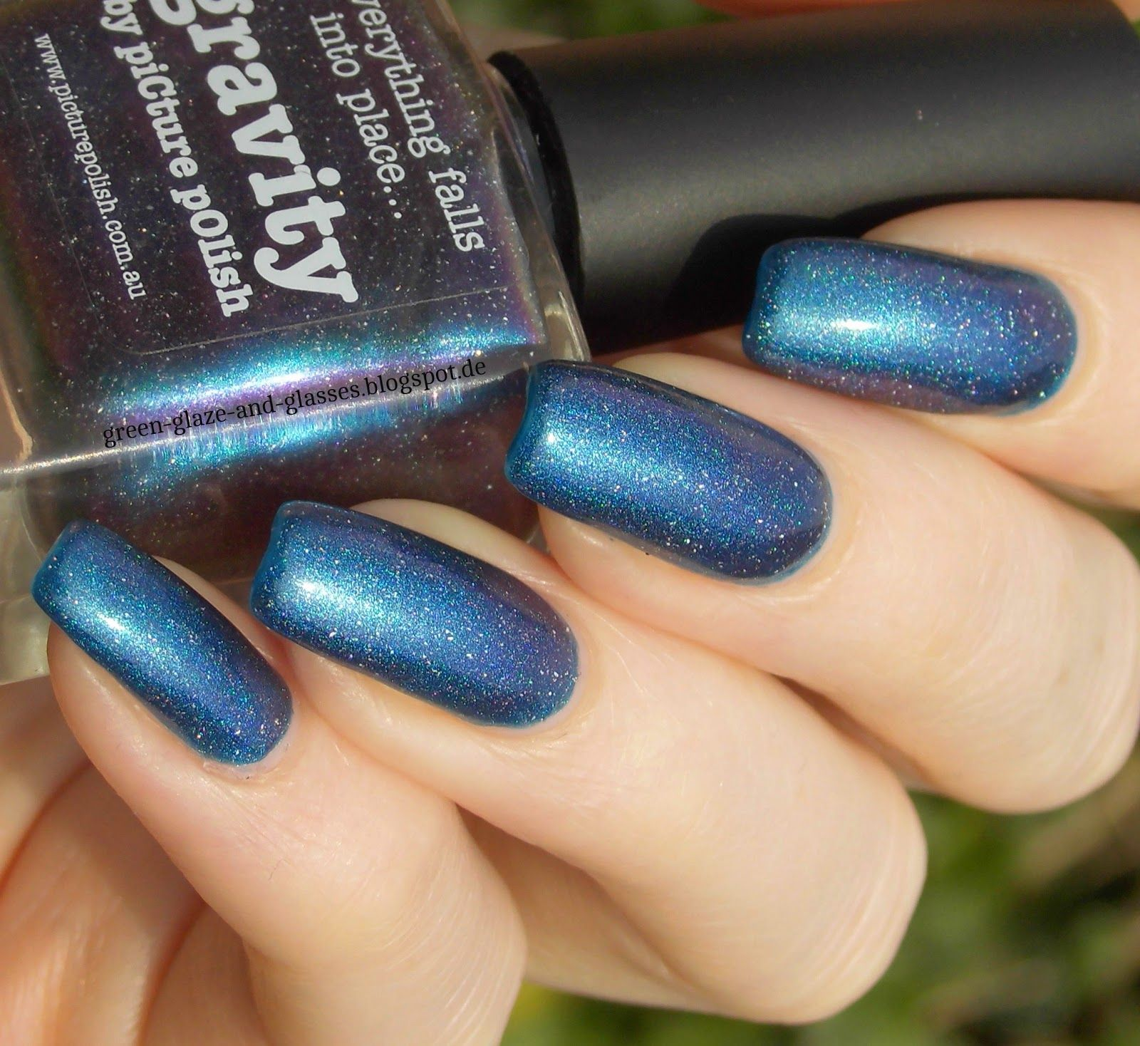 Green, Glaze & Glasses: Blue Friday - Picture Polish Gravity (over Hits Apolo)