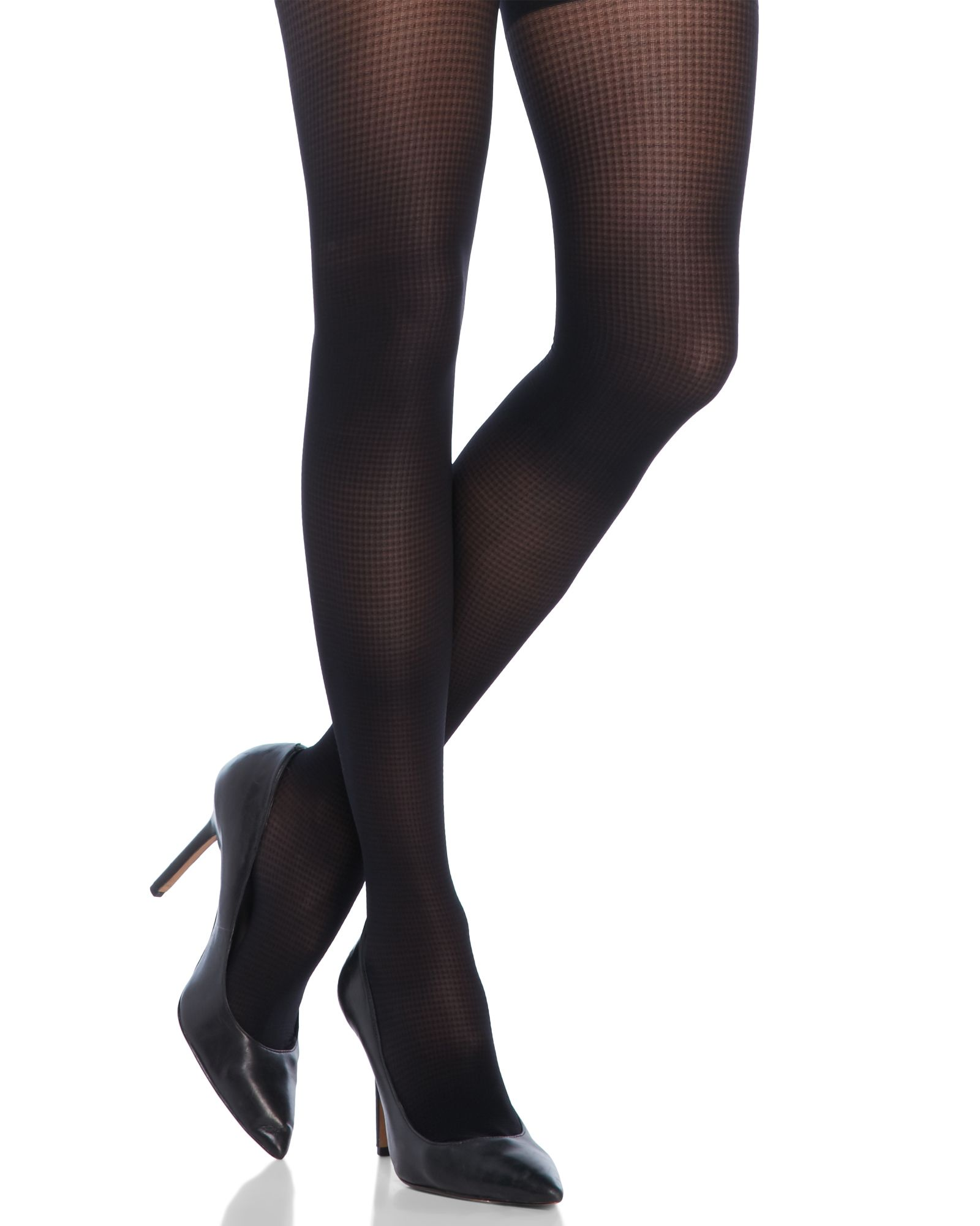 Ebony navy pantyhose