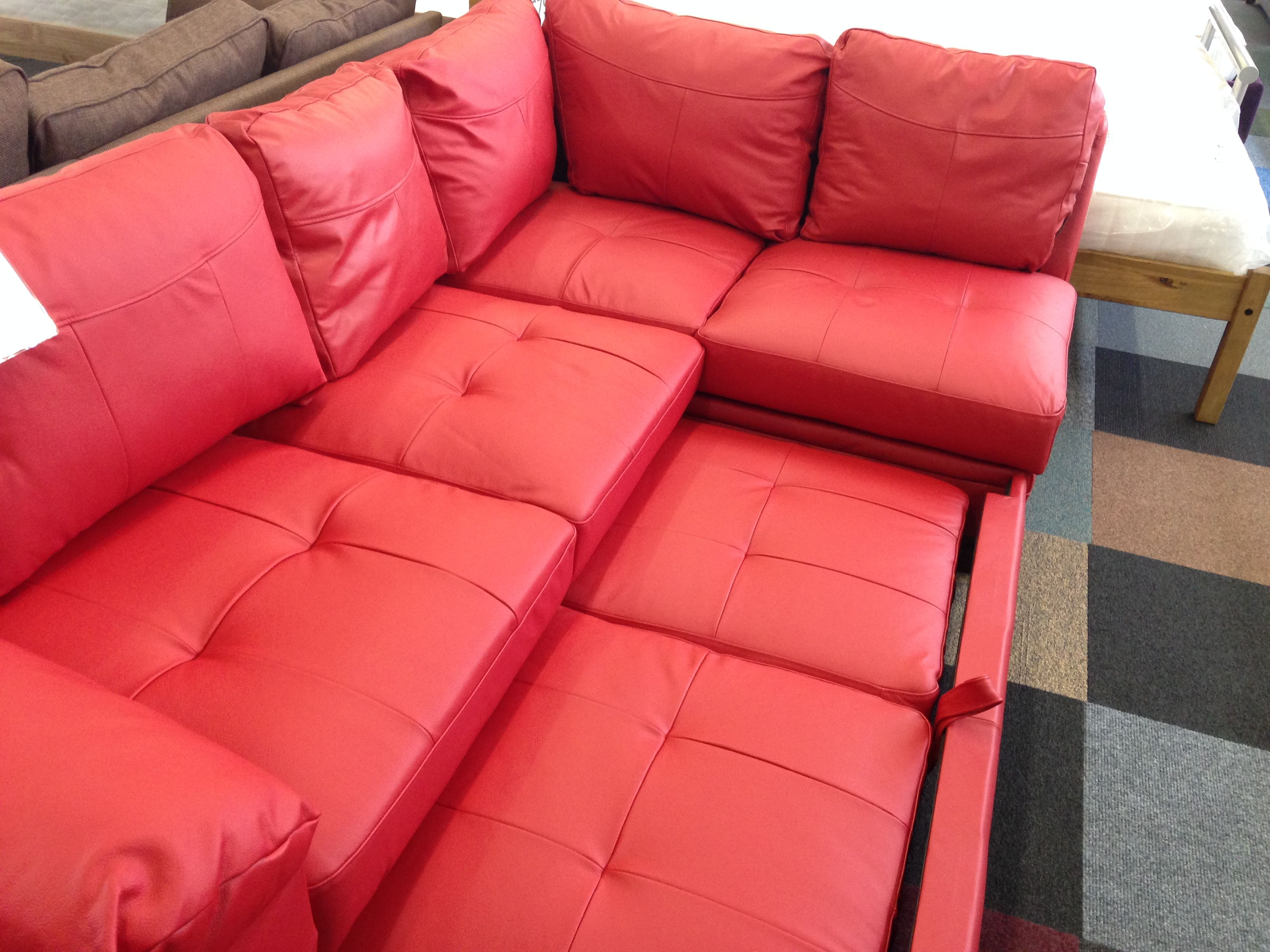 Prime Fernando Leather Right Hand Sofabed Corner Group Red Caraccident5 Cool Chair Designs And Ideas Caraccident5Info