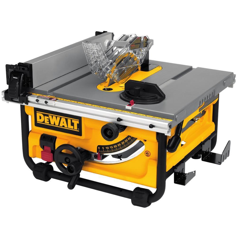 Dewalt 8 1 4 In Compact Jobsite Tablesaw Best Table Saw Portable Table Saw Table Saw