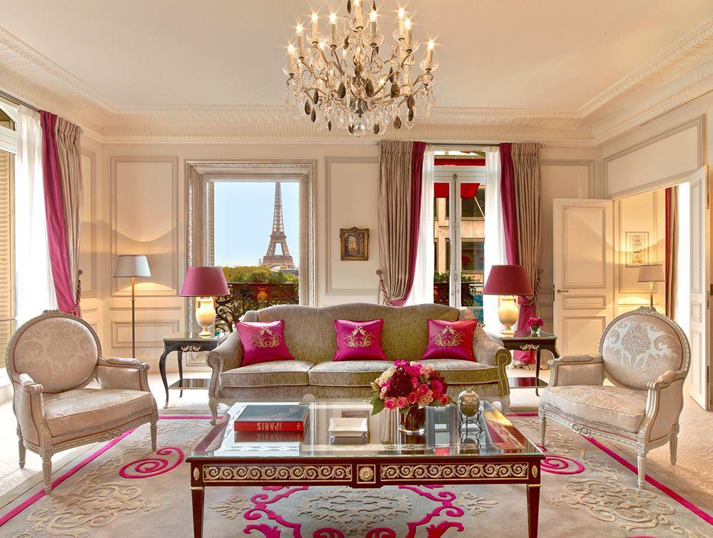 Eiffel Suite at Hôtel Plaza Athénée in Paris, France © Hôtel Plaza