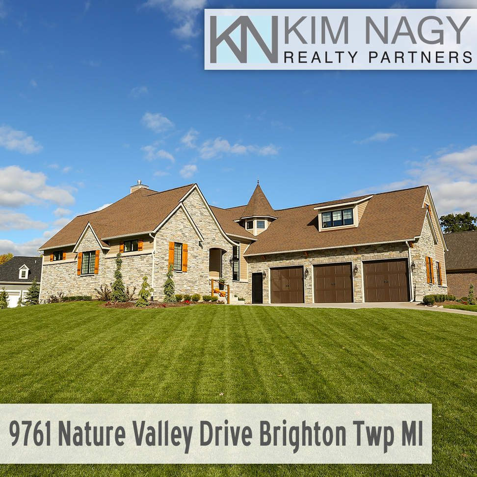 Just Listed | 9761 Nature Valley, Brighton Township, MI  Stunning custom built stone estate on huge corner lot! Beautiful 3/4 in. Acacia wood floors, nuetral decor and nothing but high end finishes throughout entire house - Carerra Marble counters in kitchen and bathrooms, Pottery Barn and RH light fixtures, Kohler Margaux fixtures. Ultra energy efficient construction with high end Pella windows, closed cell blown insulation and LED lights make for very low utility bills. Imp