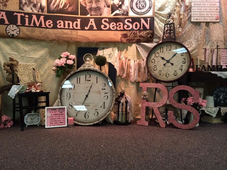 """LDS Stake Relief Society Women's Conference 2014. Theme was """"A Time and A Season""""."""
