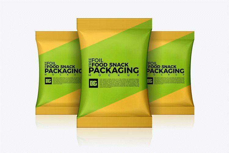 Download Free Foil Food Snack Packaging Mockup Download Free Packaging Mockup Packaging Mockup Food Mockup