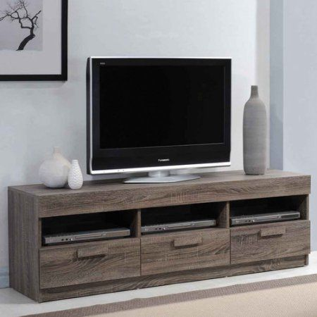 Acme Alvin Rustic Oak Tv Stand For Flat Screen Tvs Up To 60 Inch