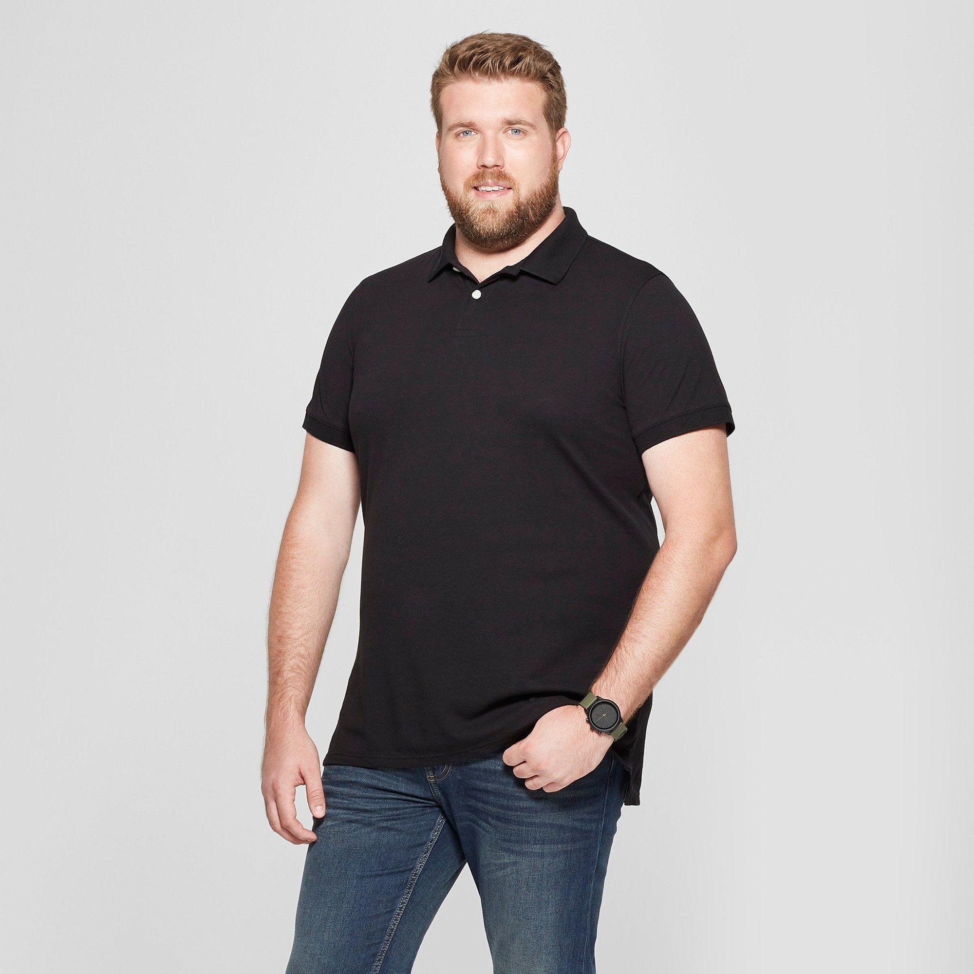 Men's Tall Short Sleeve Collared Loring Polo T-Shirt - Goodfellow ...
