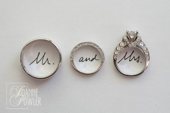Great picture of the groom and brides rings Dream Wedding