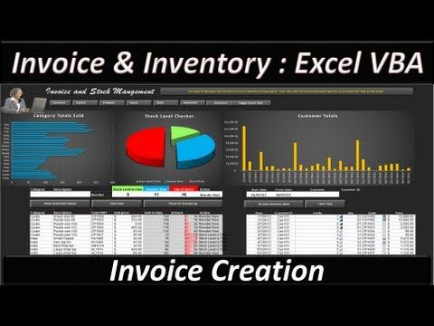 Excel VBA -- Invoice and Stock Management - Excel 2013  The Invoice Sheet