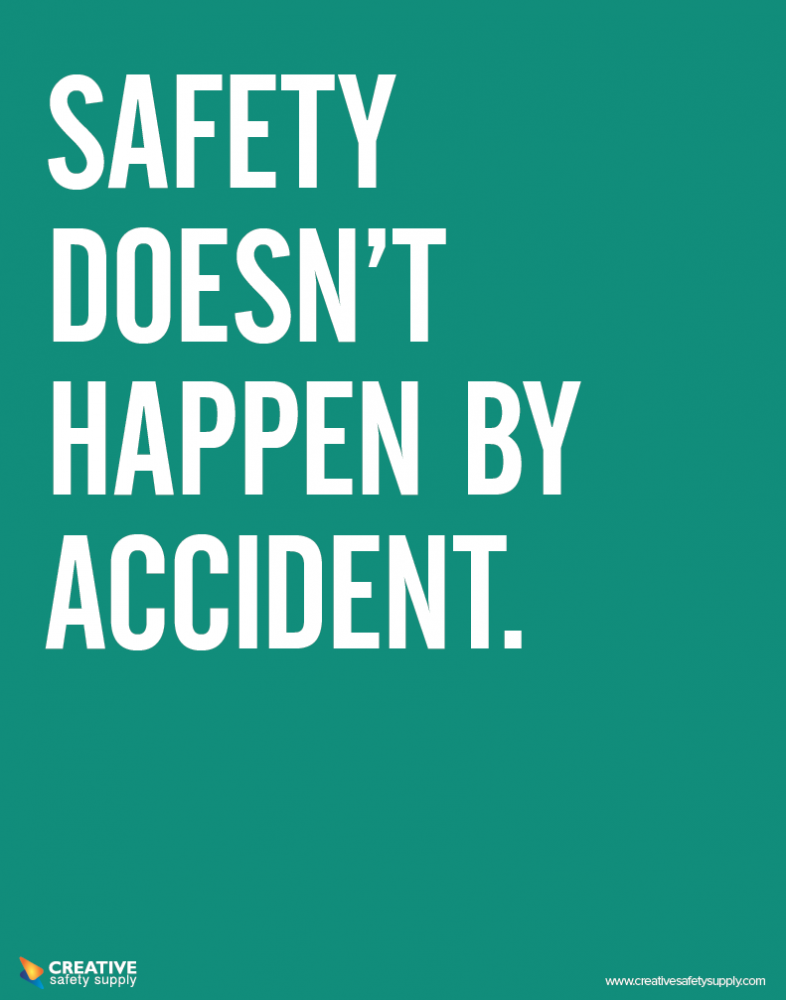 Creative Safety Supply Safety / Accident Poster, 24.95