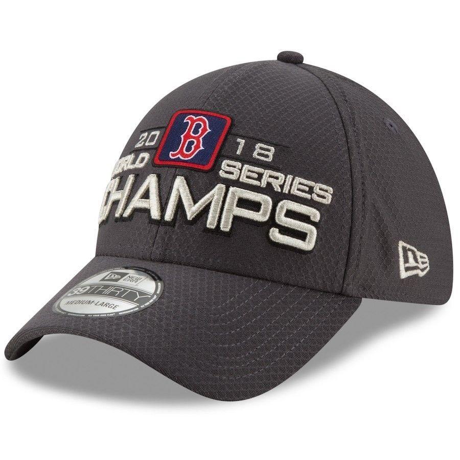 free shipping af52c c9e08 Boston Red Sox New Era 2018 World Series Champions Locker Room 39THIRTY  Flex Hat