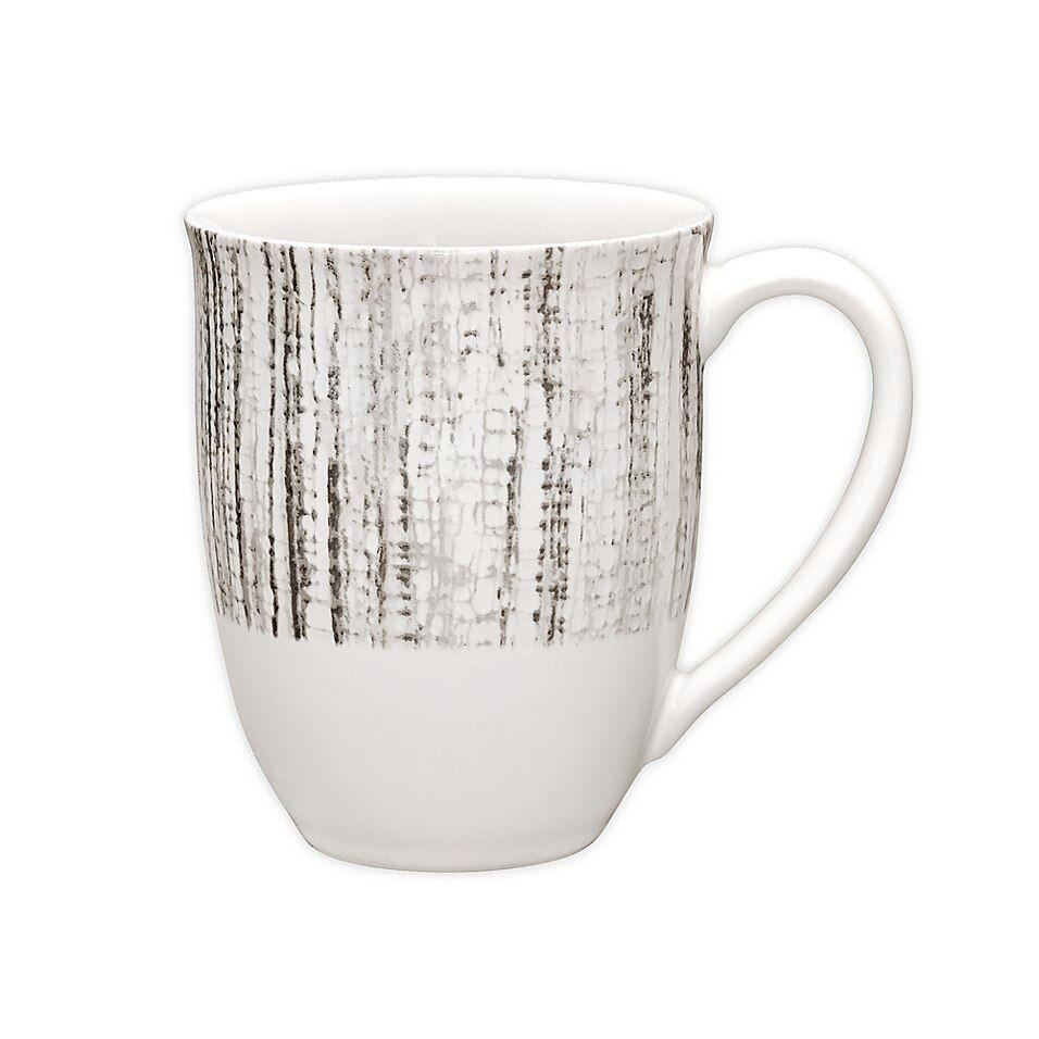 Noritake Colorwave Weave 18 Oz. Mug In Slate