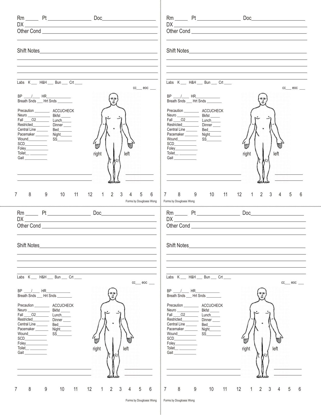 Sized Visual Shift Report Patient Tool The Stress Of Giving Report