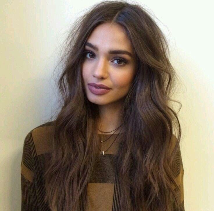 Hübsches Mädchen Braune Haare Hübsche Schauspielerin Mit