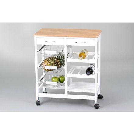 Bricor carro cocina cestas botellero estante muebles for Muebles auxiliares de cocina