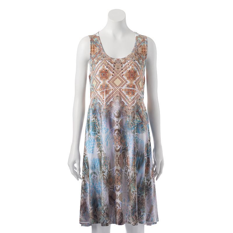 Women's Apt. 9® Embellished Sublimation Shift Dress, Size: