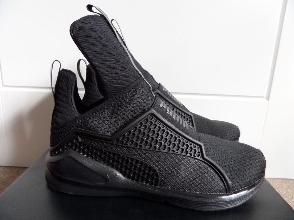 official photos b6833 20bb0 PUMA RIHANNA FENTY TRAINERS 189193-01 SNEAKERS SHOES BLACK ...