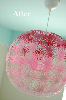 Picket Fence Design: A DIY Flower Chandelier: My MASKROS Makeover