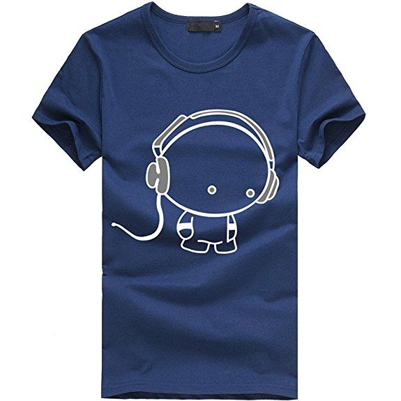 Amlaiworld Sommer-Charakter-nettes Muster-T-Shirt Oberseite für Mann ...
