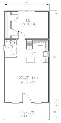 300 sf house plans Google Search remodel Pinterest Cabin and