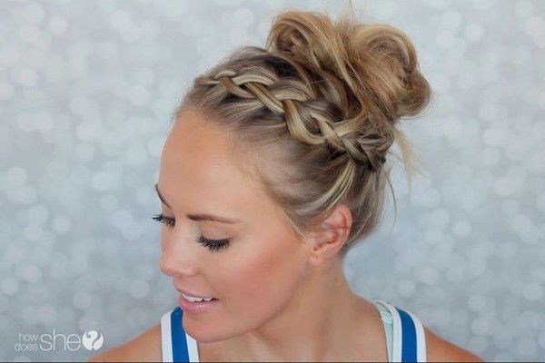 Gym Hairstyle Tutorial Sporty Hairstyles Sports Hairstyles Gym Hairstyles