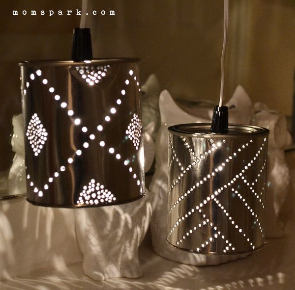 DIY Quart Tin Can Punch Lanterns | Mom Spark - A Trendy Blog for