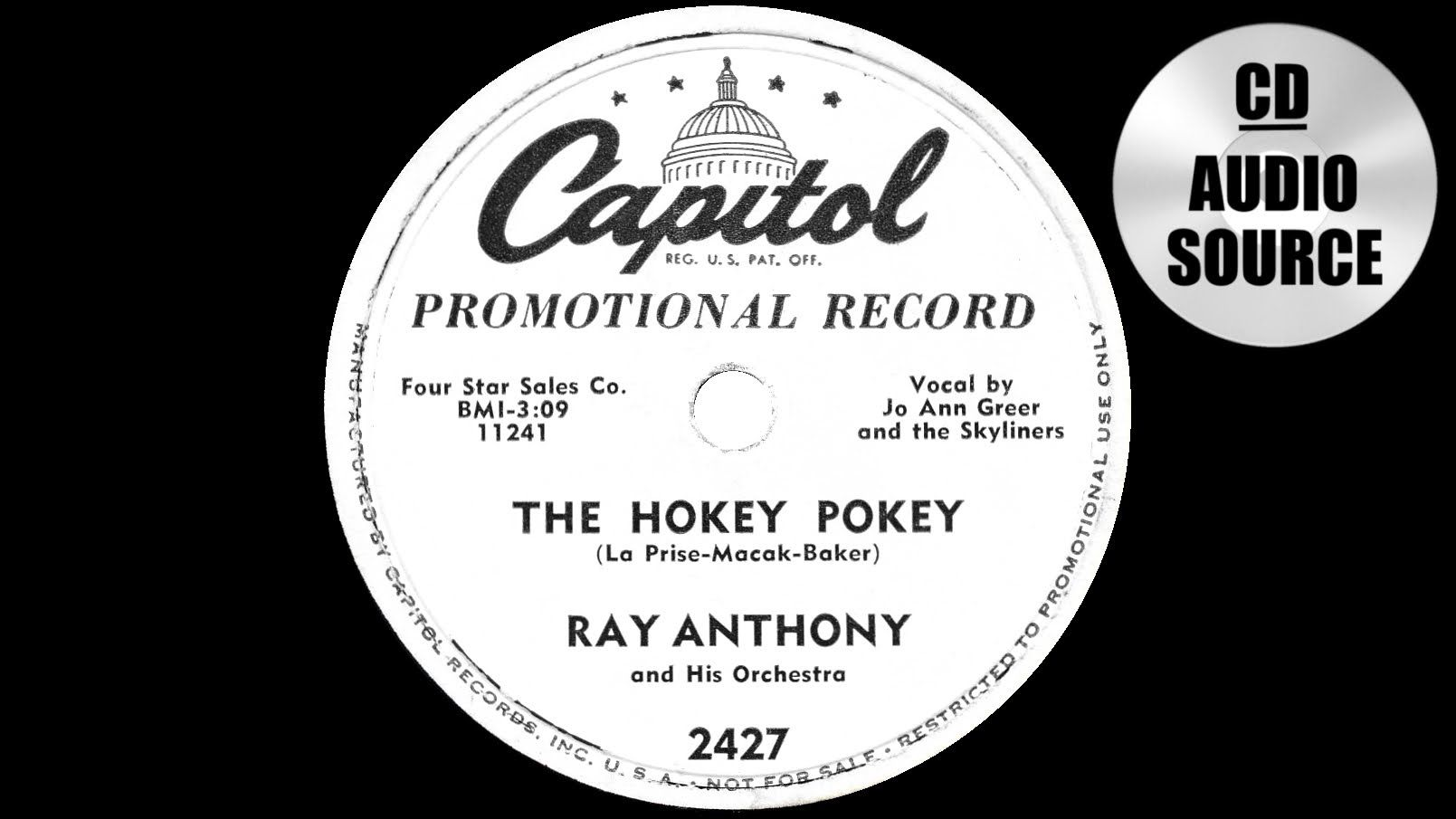 From 1953 - The song that started the whole craze The Hokey Pokey ...